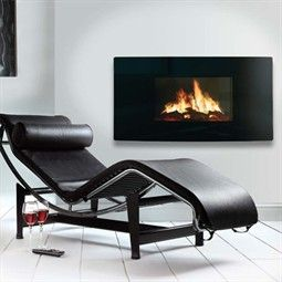 Celsi Curved Wall Mounted LCD Electric Fire - Hotprice.co.uk