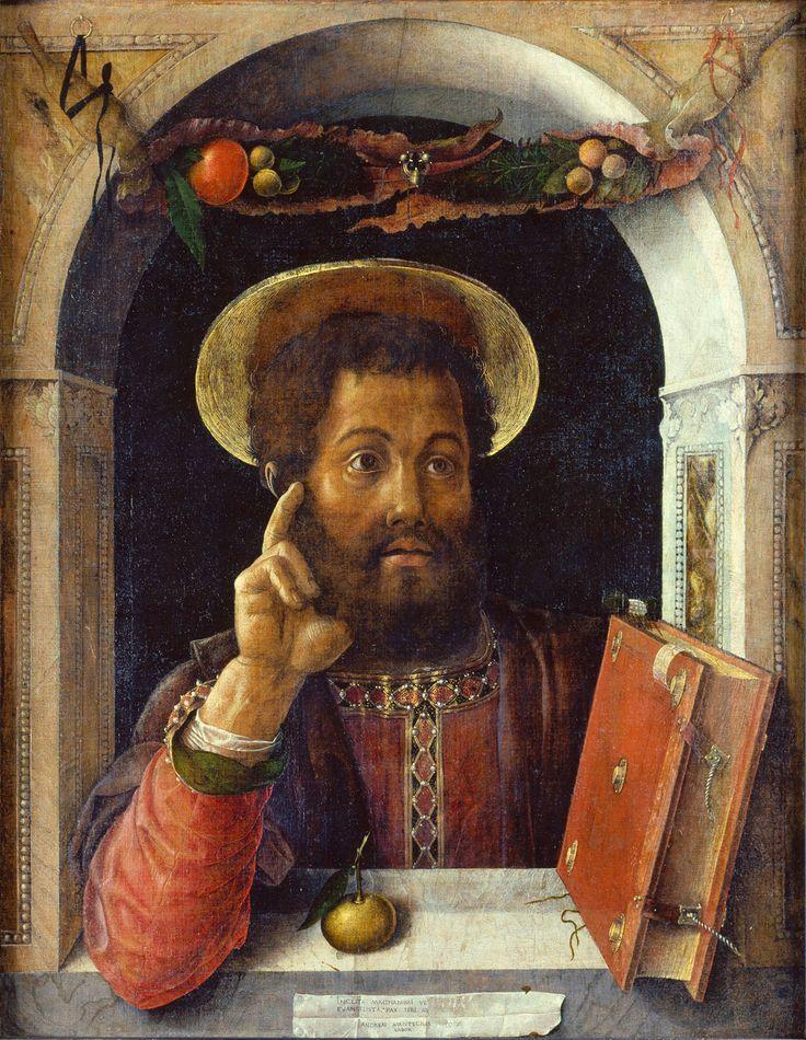 Andrea Mantegna (Isola di Carturo, circa 1431 - Mantua, 1506) St Mark. 1447 - circa 1448. Canvas; H. 82 cm; W. 63.7 cm. Frankfurt