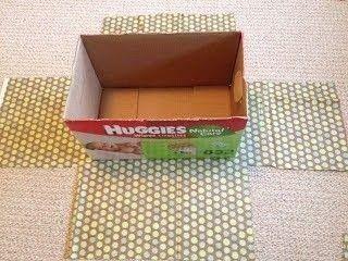 Cómo forrar unas cajas para almacenaje