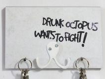 彡 KeyKey Schlüsselbrett | Drunk Octopus