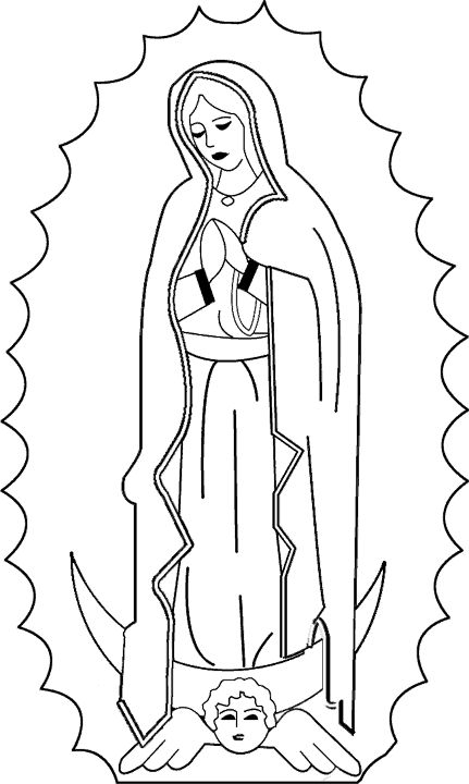 Catholic coloring page of Our Lady of Guadalupe