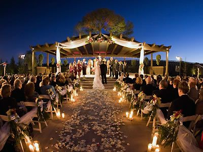 Image result for wedding aisle lanterns night ceremony