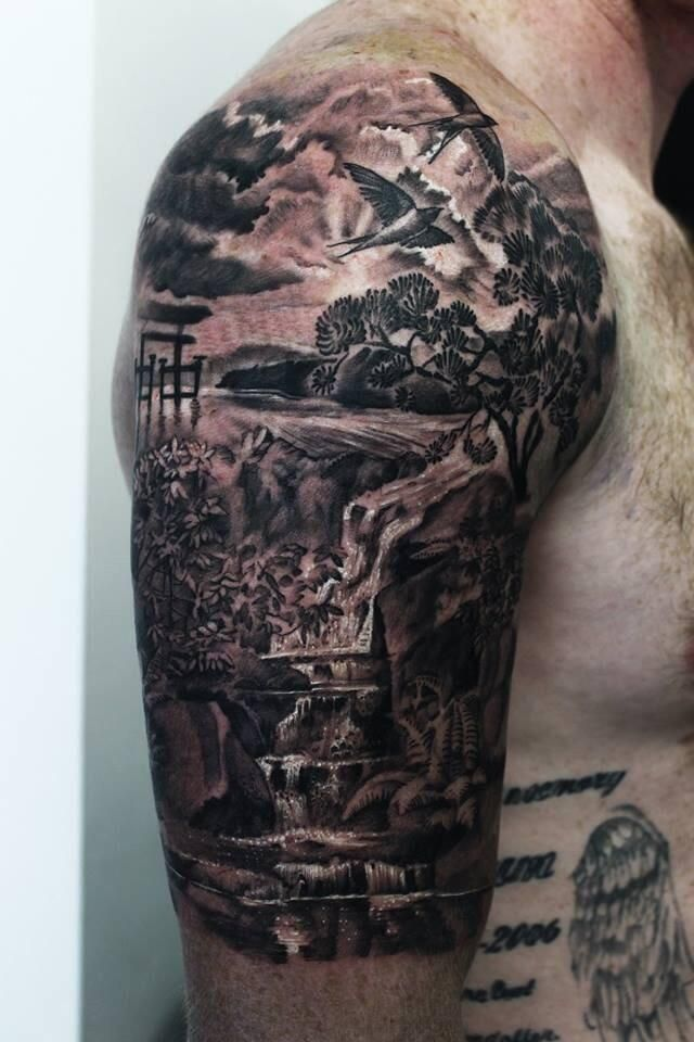 Death Sleeve | Right Half Sleeve Death Death Tattoos ...