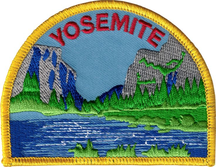 "EVERYTHING ELSE - Funny, Humor, Slogans, Weird Stuff & Misc. Random Goodness! Yosemite - Gates of the Valley Landscape Patch -  California (3.5"" x 2.625"") - $3.98 - 1-PTR-16230"