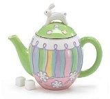 Easter Bunny Ceramic Teapot
