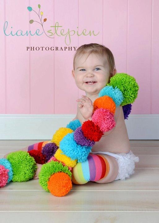 photo prop for my boy: Photograf Ideas, My Daughter, Photography Insper, Color, Pompom, Photo Props, Pom Pom
