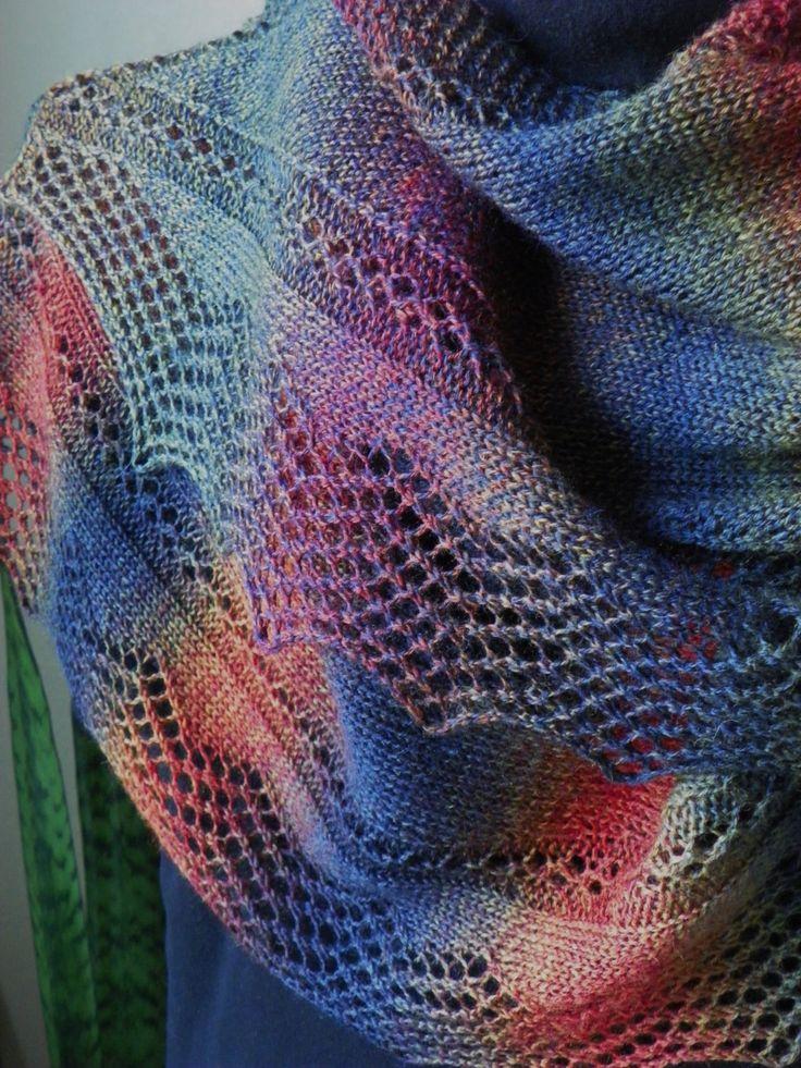 "Wrap, Scarf Knitting pattern ""Juneau Nights"" fingering yarn by suelillycreations on Etsy"