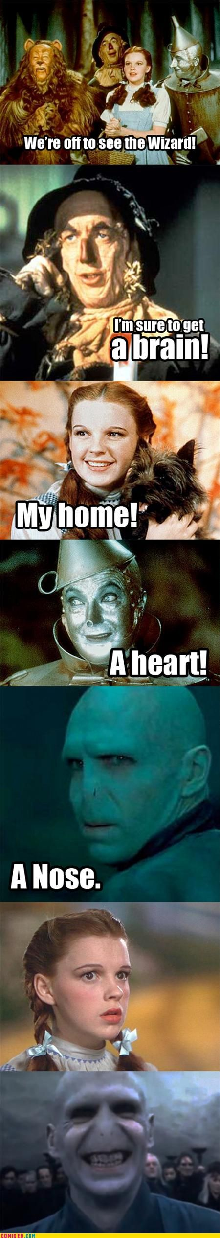 :)Voldemort, Harry Potter Jokes, Laugh, Harry Potter Memes, Harrypotter, Things, Wizards Of Oz, So Funny, Nose