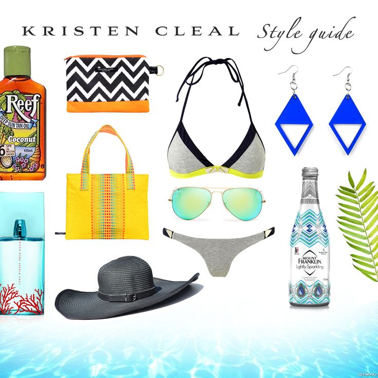 LIVE. LAUGH. LOVE ~ Our Summer Style Guide for you beach bums   Bikini Bathers, sass & bide. Perfume, Issey Miyake Parfums. Sparkling Water, 'Mount Franklin' Water. Ray-Ban Sunglasses. Reef Coconut Oil. All other accessories are Kristen Cleal; Blue Luxe Earrings, Chevron Cosmetic Bag, Black Hampton Hat, Yellow Barbados Tote. SHOP at ww.kristencleal.com.au x #beach #summerfashion #style #styleguide #bathers #reef #goldcoast #australia #hat #australianfashion #tropical #holiday