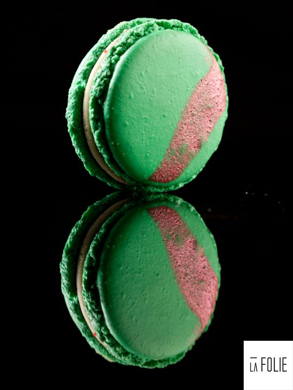 Paan and Rose Gulkand Macaron - Paan cream with Rose Gulkand Confit