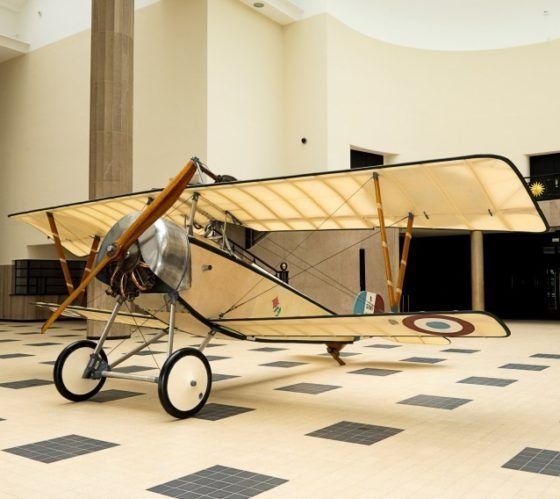 Nieuport XI Bébé (circa 1916), an iconic part of the exhibition devoted to the Museum of Air and Space in the air battle of Verdun.  © Museum AIr and Space.