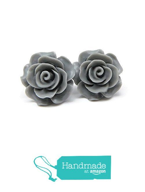 Large Gray Rose Earrings on Plastic Posts for Metal Sensitive Ears from Smart Earrings https://www.amazon.com/dp/B01FMYQSAO/ref=hnd_sw_r_pi_awdo_BmR8yb5ER7EJ0 #handmadeatamazon