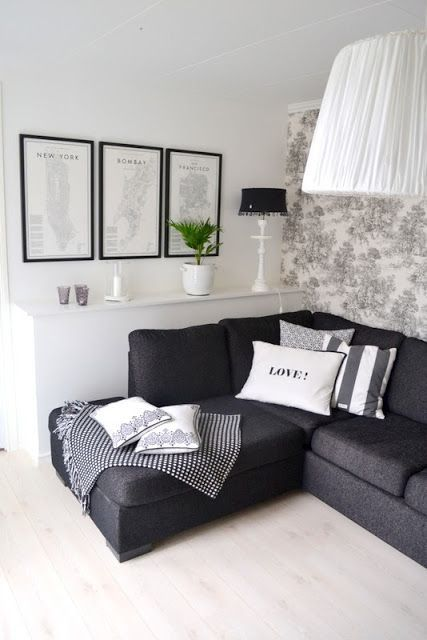 Best 25+ Black sofa decor ideas on Pinterest | Black sofa living ...