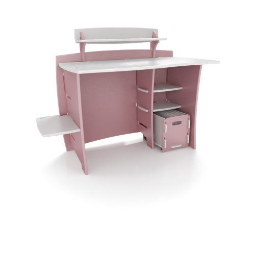 Legaré 43 Kids' Desk w/ File Cart Pink for Girls