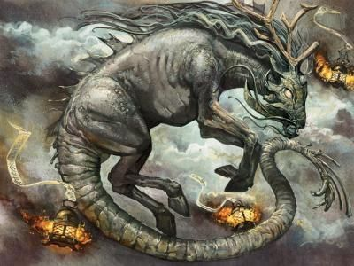 Longma- Chinese myth: a flying dragon horse. It was an omen of royalty.