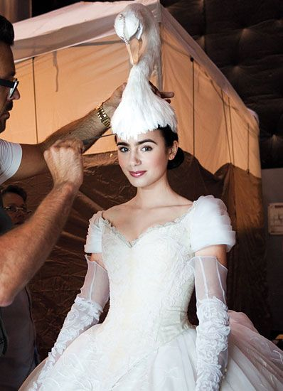 Lily Collins takes us behind the scenes of her wild new snow white fantasy.