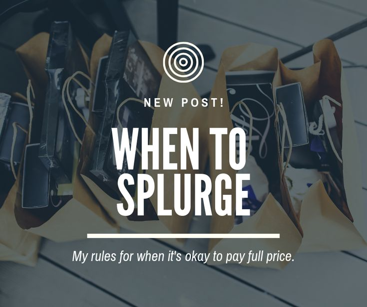 When to pay full price
