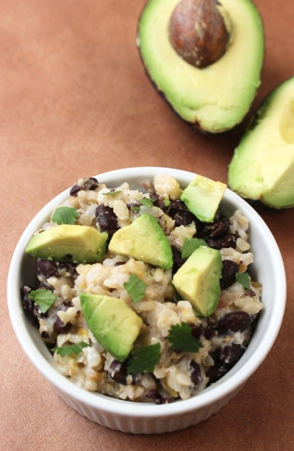 Top saved recipe for single-serving healthy vegetarian burrito bowl is creamy and ready in less than 5 minutes. Easy enough to make in a college dorm.