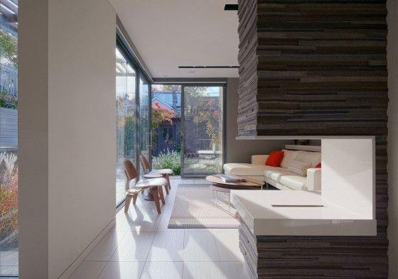 Diseño de interiores de sala pequeña moderna
