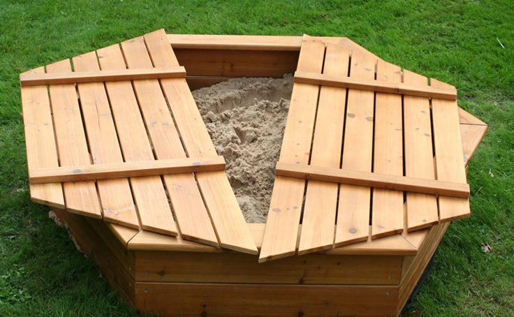 bac à sable avec fond et couvercle en forme hexagonale à fabriquer soi-même