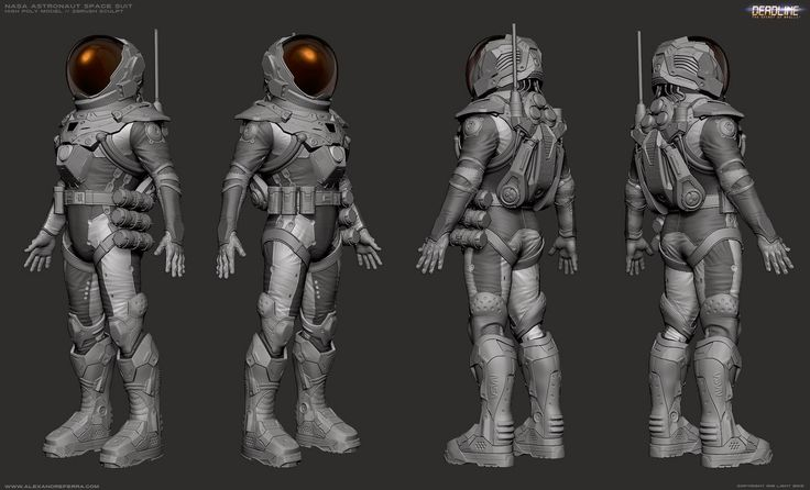 Hard Shell Space Suit Sci-Fi (page 3) - Pics about space
