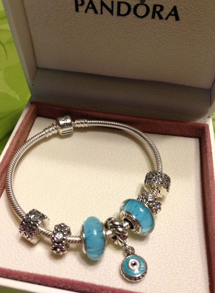 mypandora beautiful blue design thanks for sharing pandoralove pandorabracelet - Pandora Bracelet Design Ideas