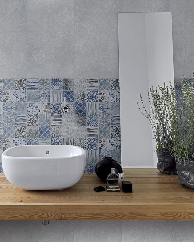 White-paste wall tiles BLUE by Unica by Target studio @unicabytarget