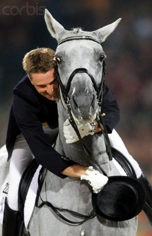 Blue Hors Matine - showing some horsey love. Simple one of the greatest Dressage Horses the Equestrian world has even seen. RIP big girl.