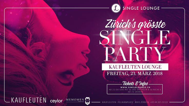 Coming up next!  ❤️  Single Lounge Presents  Zürich's grösste SINGLE PARTY  Freitag, 23. März 2018 Ab 22:00 Uhr mit Dj Urs Diethelm & Dj Richi S. @ Kaufleuten Club  Tickets & weitere Infos www.singlelounge.ch  ❤️  #singlelounge #partytime #event #highlight #comingup #party #march2018 #zurichsbiggest #singleparty #savethedate #getyourticketnow #somuchfun #finest #artwork #finalvisual #graphicdesign #visuals #brandnew #flyer #flyercollection #designcollection #lov