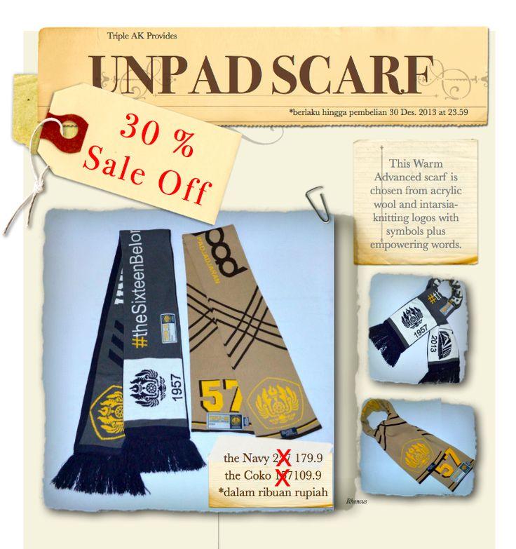 Penawaran menarik dari kami. the exclusive 30% sale off for UNPAD Scarf.