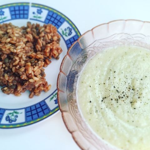 Muoversi con Gusto: Vellutata di cavolfiore e zucchine