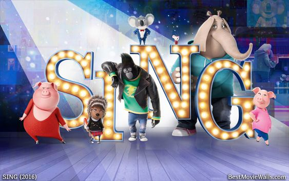 All lovely characters from #SING on the big stage in this dazzling #wallpaper hd :]