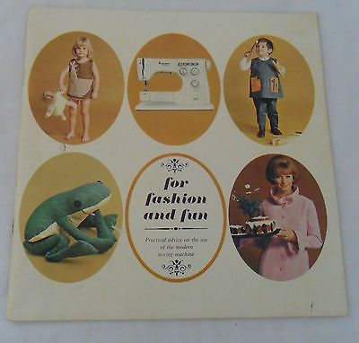 For Fashion & Fun Practical Advice Use of Modern Sewing Machine Brochure 1960's | eBay