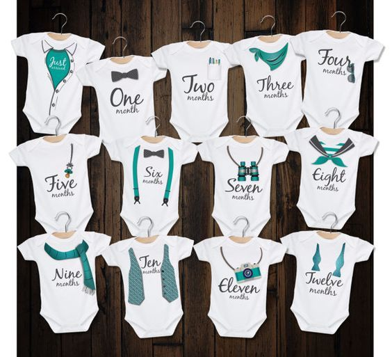 539c9e105 Baby Boy - Watch Me Grow monthly milestone bodysuit kit   HTV   Baby ...