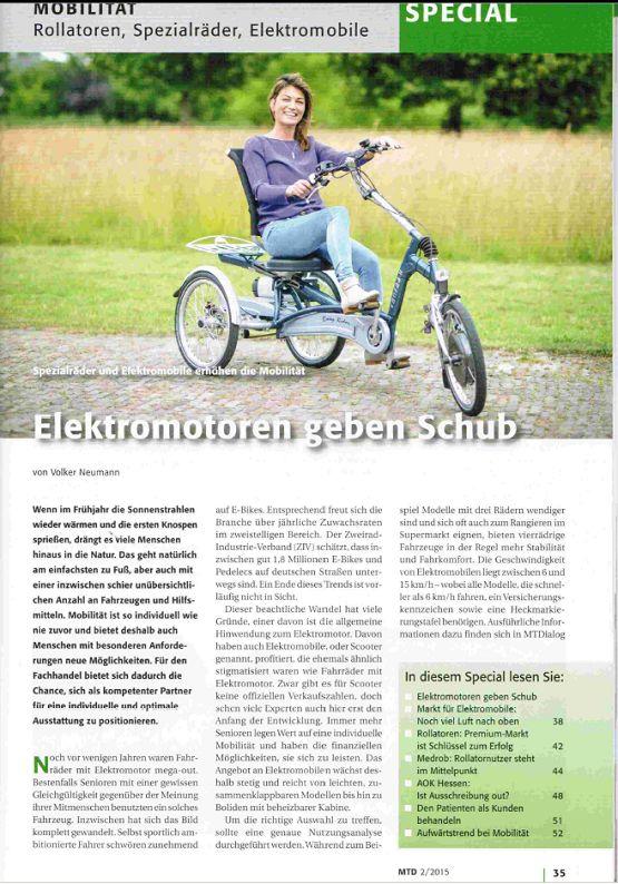 Lees hieronder het artikel uit het MTD magazine over mobiliteit, rollators, aangepaste fietsen en elektrische voertuigen geschreven door Volkert Neumann, journalist op het gebied van mobiliteit voor personen met een handicap en senioren.  http://www.vanraam.nl/fiets-met-trapondersteuning/news/page/412…