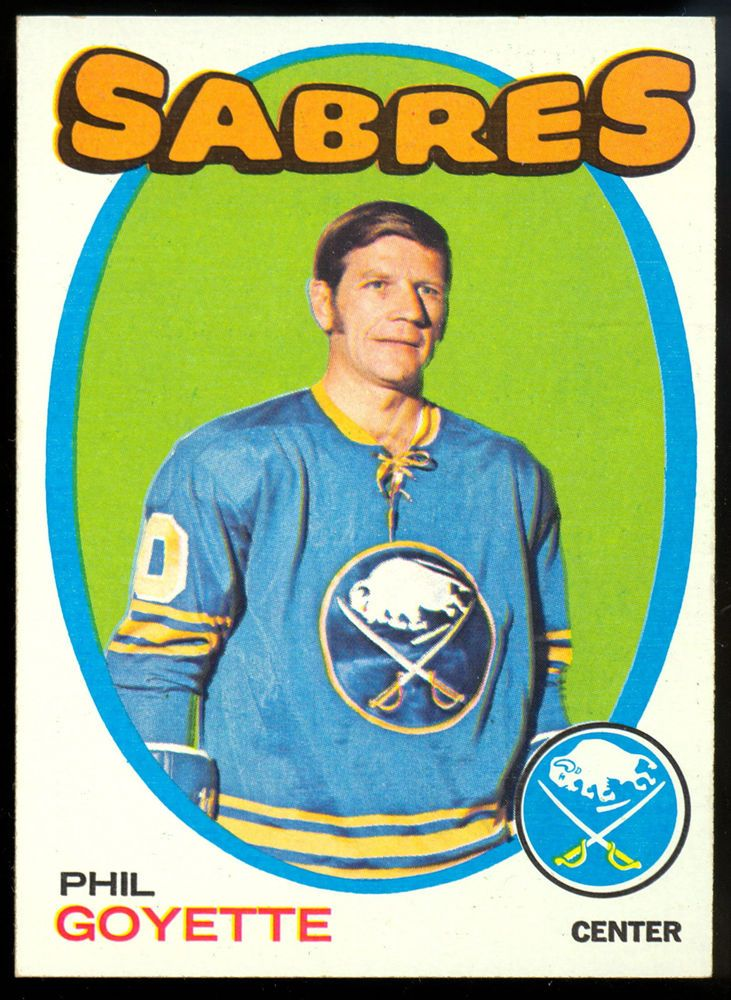 1971 72 TOPPS HOCKEY #88 PHIL GOYETTE NM BUFFALO SABRES FREE SHIP TO USA #BuffaloSabres