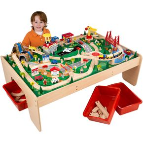KidKraft Waterfall Mountain Train Set \u0026 Table  sc 1 st  Pinterest & 20 best Kiddos: train table images on Pinterest | Train table Child ...