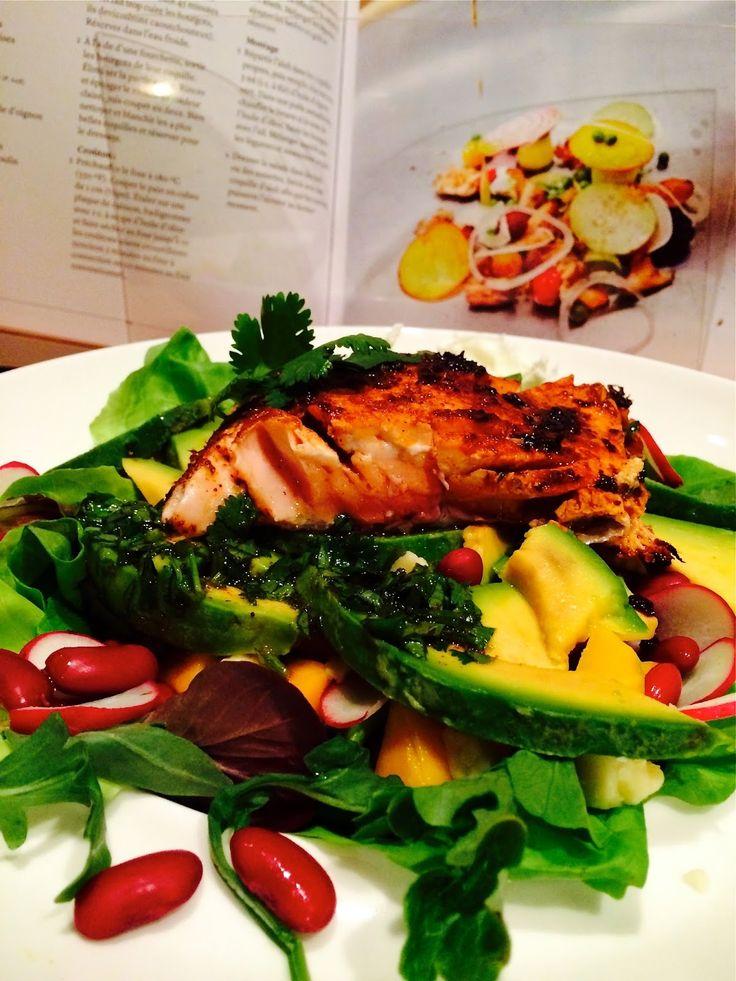 Madame Anne aux fourneaux: Salade de saumon Chill'n lime