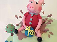 The Cake Lab Ranelagh, Dublin, Ireland, Artisan Baking Studio. Bespoke Wedding Cakes.  Peppa Pig Cake topper.