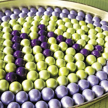 Give your event a special look by adding your personal monogram in a delicious way! Create this shimmering monogram gumball display for your next party or add it to the dessert table or candy buffet at your wedding reception.