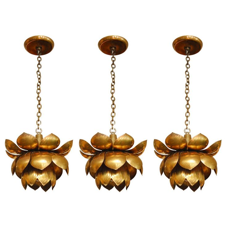 brass lotus pendants