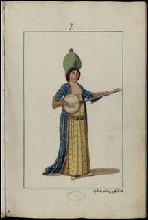 Tamburi,Recueil de costumes et vêtements de l'Empire ottoman au 18e siècle-Monnier, Joseph Gabriel (1745-1818 ; colonel du génie)Gallica,BnF