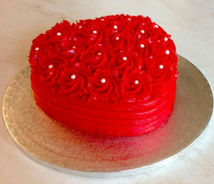 Love rosette heart shaped cake