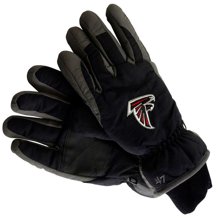 '47 Brand Atlanta Falcons Youth Carve Ski Gloves - Black - $22.39