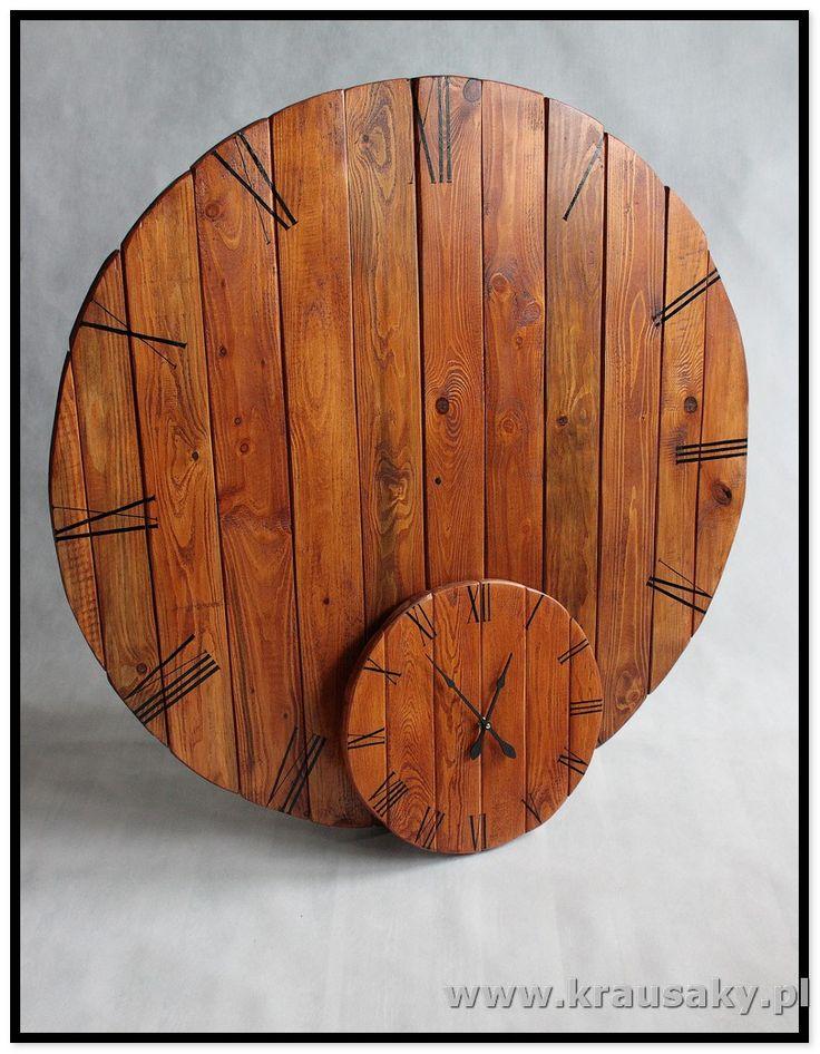 Zegar Slim Witamy na stronie firmy Krausaky! Zegar Slim. Ten wspaniały zegar to nie tylko czasomierz - to również doskonała ozdoba i dekoracja na ścianę. Z , meble i dekoracje z drewna, z desek, shabby, vintage, rustykalne, loft, industrial, rustic