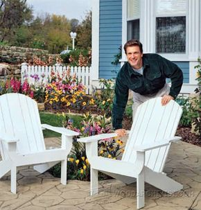 Traditional Adirondack Chair Plans - Outdoor Furniture Plans & Projects   WoodArchivist.com