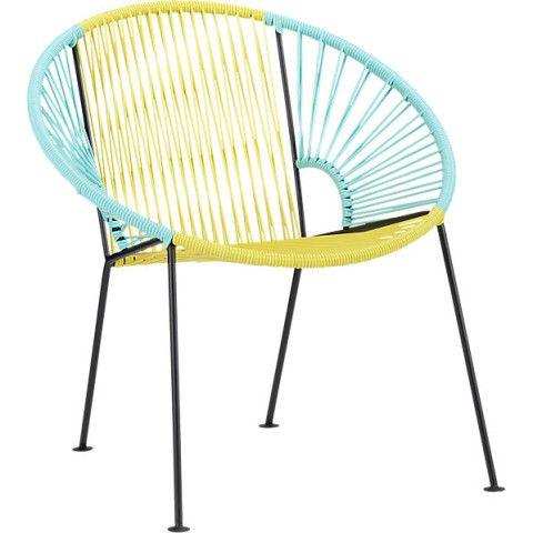 ixtapa yellow/aqua lounge chair in outdoor furniture | CB2