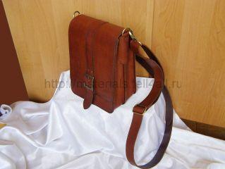 Мастер-класс по пошиву мужской сумки из натуральной кожи своими руками.