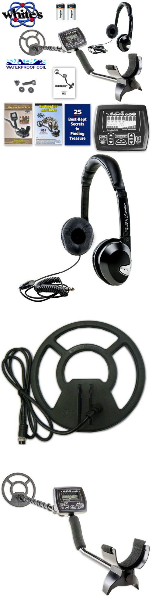 Metal Detectors: Whites Coinmaster Metal Detector W/ 9 Waterproof Search Coil And Headphones BUY IT NOW ONLY: $179.0
