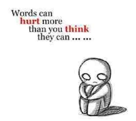 words do hurt and can be intensely damaging as physical